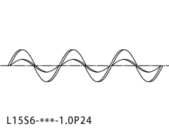 >M型ステンレススパイラー® L15S6_1.0P24